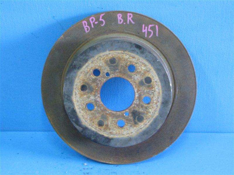 Диск тормозной задний неоригинал (австралия) с насечками для автомобилей subaru impreza sti выпущенных после 2005 года